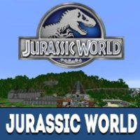Jurassic World Map for Minecraft PE