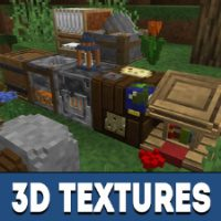 3D Texture Pack for Minecraft PE