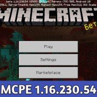 Minecraft PE 1.16.230.54
