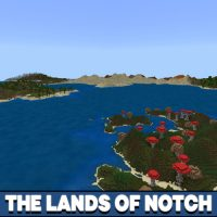 The Lands of Notch Map for Minecraft PE