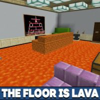 The Floor is Lava Map for Minecraft PE